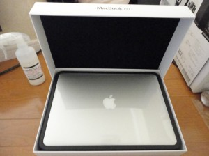 MacBook Air開封写真